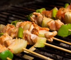 Kebabs made from Hampshire meat on the grill | Local Food Hampshire