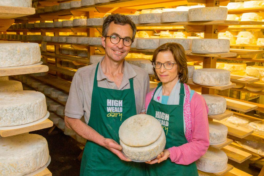 Mark and Sarah Hardy of High Weald Dairy, Sussex
