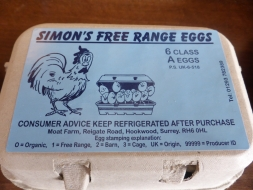 Simon's Free Range Eggs, Horley in