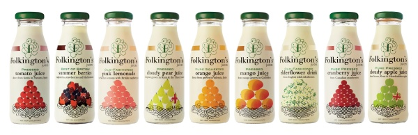 The range of juice drinks from Folkington's | Local Food Sussex