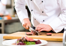Chef carving steak | Local Food London