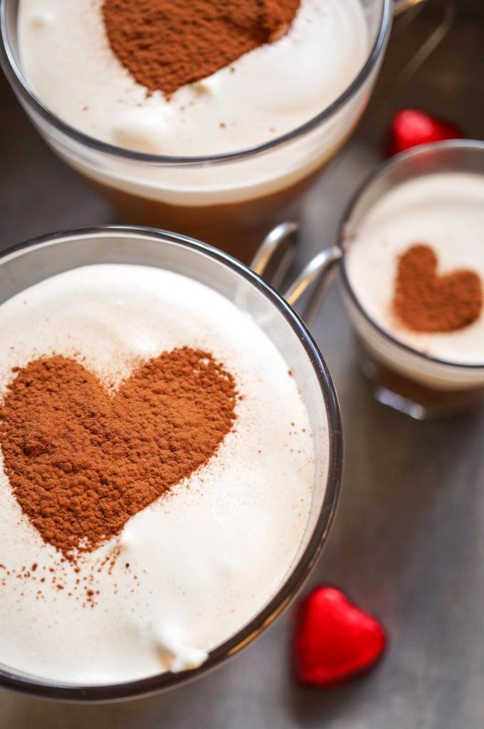 Valentine mochaccino mousse
