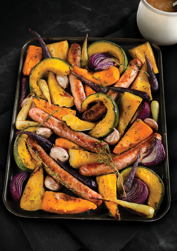 Roasted winter squash and Bevan's sausage recipe