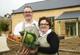 Gary Mercer and Sarah Clout outside Holwood Farm Shop, Keston | Local Food Kent