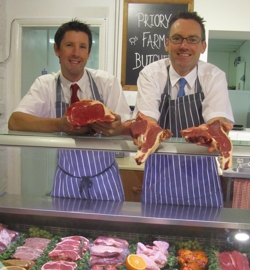 The butchers at Priory Farm Shop South Nutfield