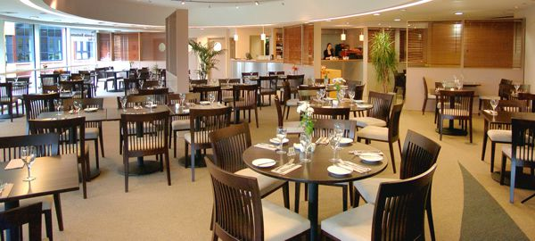 The interior of The Lakeside Restaurant at The University of Surrey in Guildford