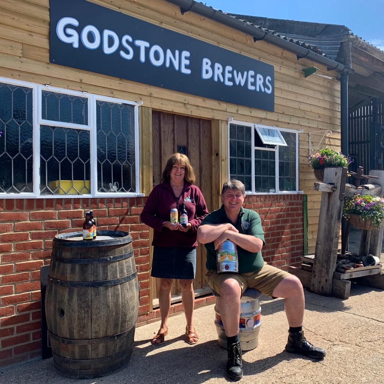 Anne and Steve of The Godstone Brewers