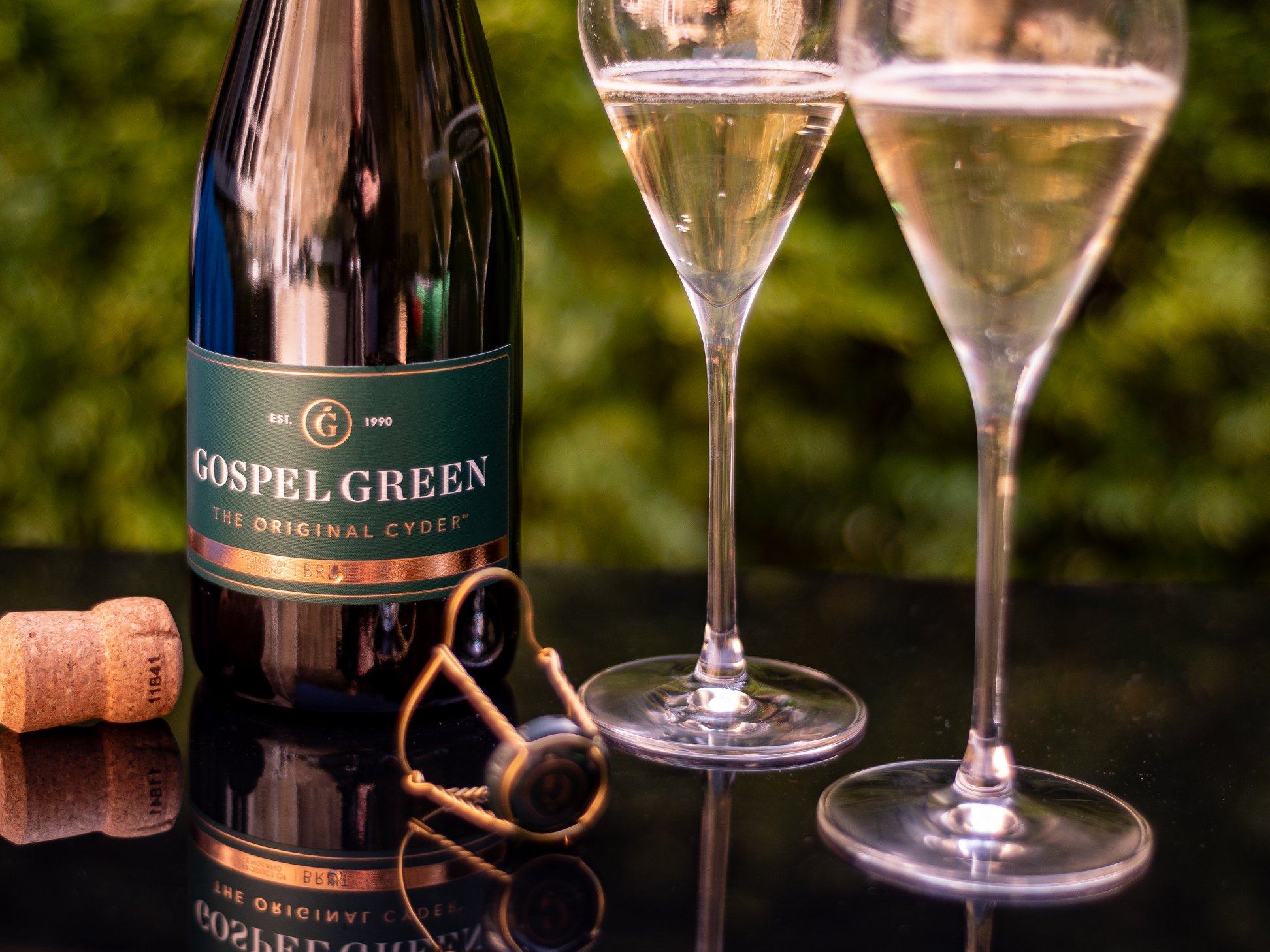 Gospel Green Cyder is a great alternative to Champagne