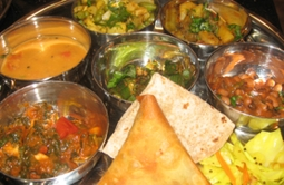 Thali Indian cookery course food | Local Food Surrey