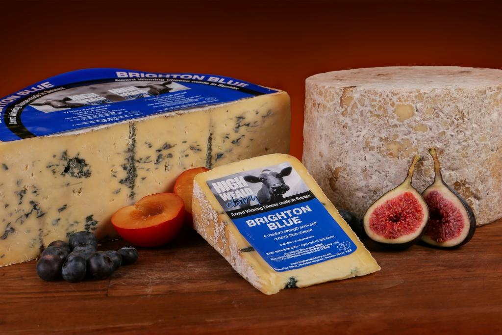 High Weald Dairy's award-winning Brighton Blue cheese