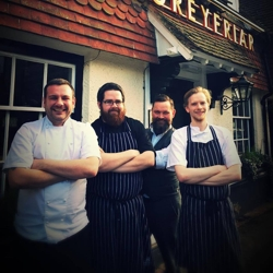 The team at The Greyfriar in Chawton