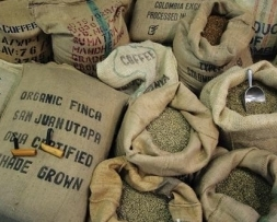 Green unroasted coffee beans from The Coffee Compass | Local Food Sussex