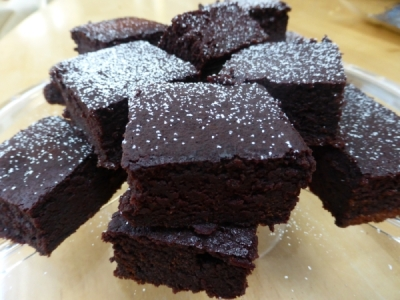 Gluten free chocolate beetroot brownies
