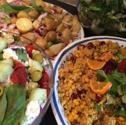 selection of salads | Local Food Surrey