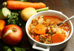 Vegetable soup with beans from Hampshire