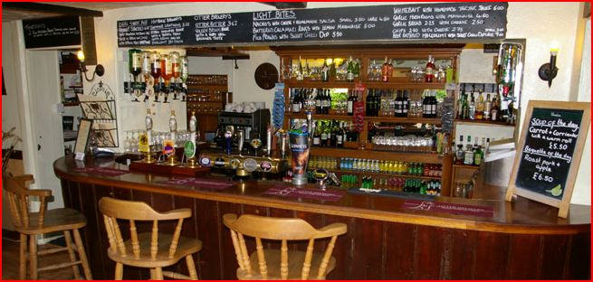 Bar at the Victoria Inn, Local Food Sussex