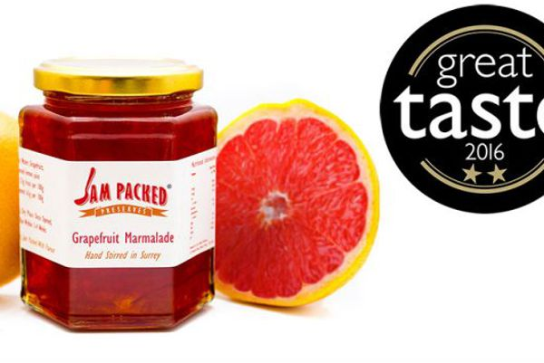 Great Taste Award winning Jame Packed grapefruit marmalade