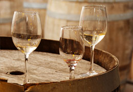Glasses of Biodynamic wine from Hampshire vineyard