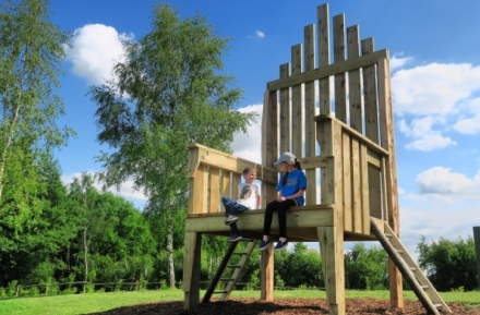 The big chair on Priory Farm's Discovery Walk
