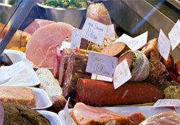 Hams, Pates, Cheeses and Salami from London Deli