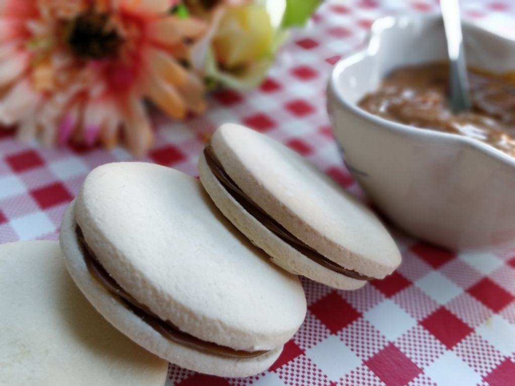 Salted caramel alfajores from Just Because Treats