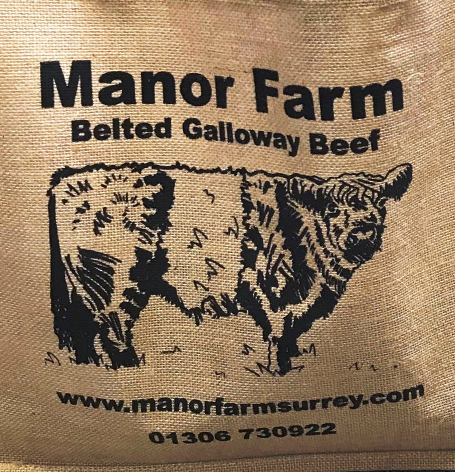 Manor Farm beef at Wotton in