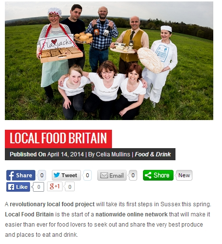 We Love Brighton article on Local Food Britain