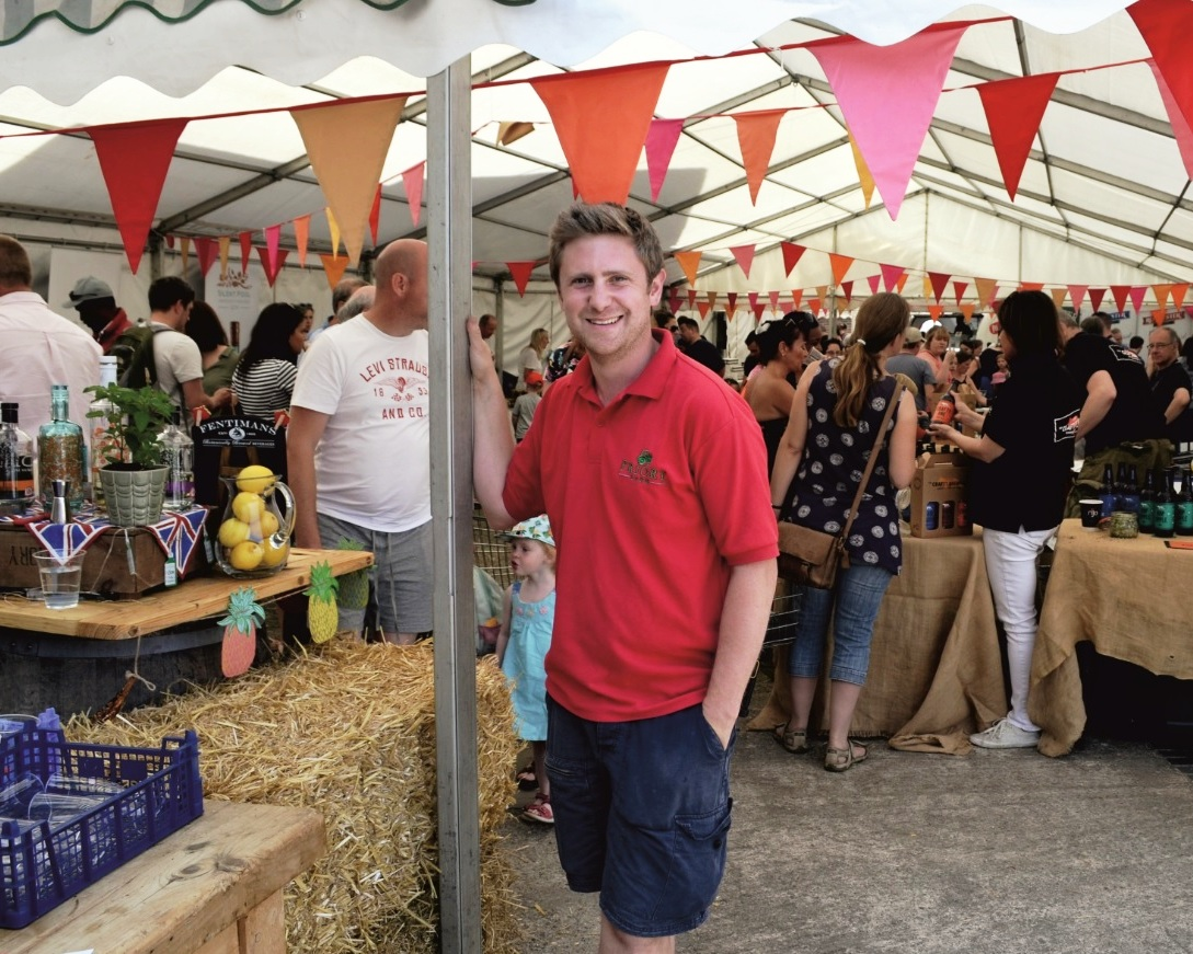 Priory Farm general manager Will Edwards at Strawberry Fair
