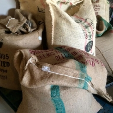 Surrey Hills sacks of coffee | Local Food Surrey