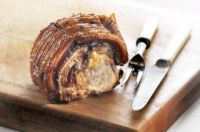 Roast loin of pork stuffed with Le Mesurier peach & rosemary chutney